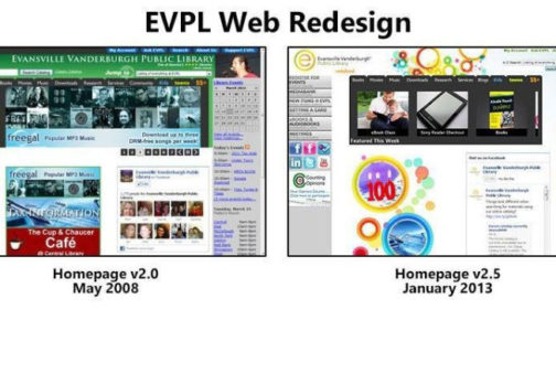 EVPL Web redesigns